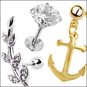 Helix-smycken & Tragus-smycken