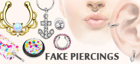 fake piercings